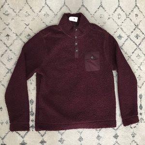 NWOT Black Brown 1826 Sherpa Sweater